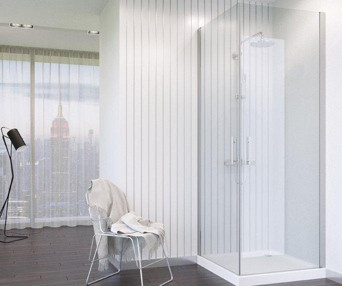 תמונה 1 של מקלחון אורן 5 פינתי