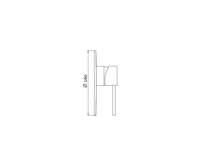 שרטוט של כיסוי למערכת קיר Masada 305289