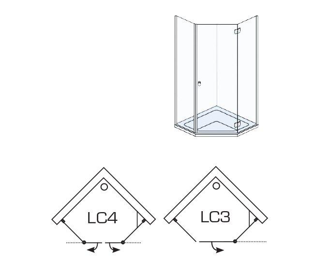 שרטוט של מקלחונים LC3/LC4